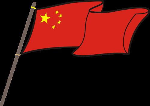 Kinija,vėliava,grafika,nacionalinės spalvos,stiebu,simbolis,nėra fono,audringas,powiewająca,Kinijos vėliava,nemokama vektorinė grafika