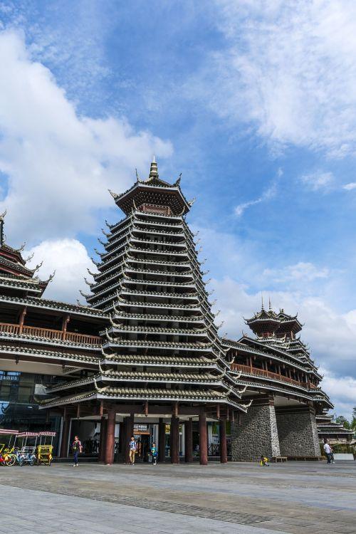 Kinija,Guizhou,guiyang,spalvingas guizhou miestas,spalvingas guizhou miesto vaizdingas plotas,spalvingas guizhou miesto kultūrinis ir kūrybinis parkas,longdongbao