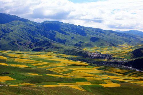 Kinija,Qinghai,kraštovaizdis