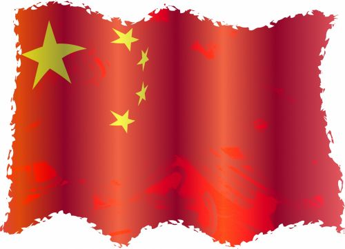 Iliustracijos, clip & nbsp, menas, iliustracija, grafika, vėliava, vėliavos, tautos, patriotinis, emblema, Grunge, Kinija, kinai, Kinijos vėliava