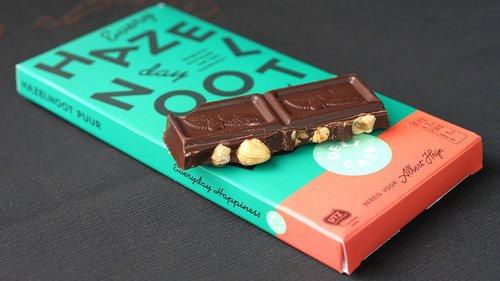 šokolado plytelė, lazdynų, saldainiai, maisto, pakavimo, dėžė