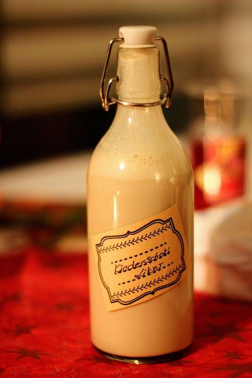 Kalėdos,alkoholis,likeris,butelis,Diy,vaikų šokolado likeris