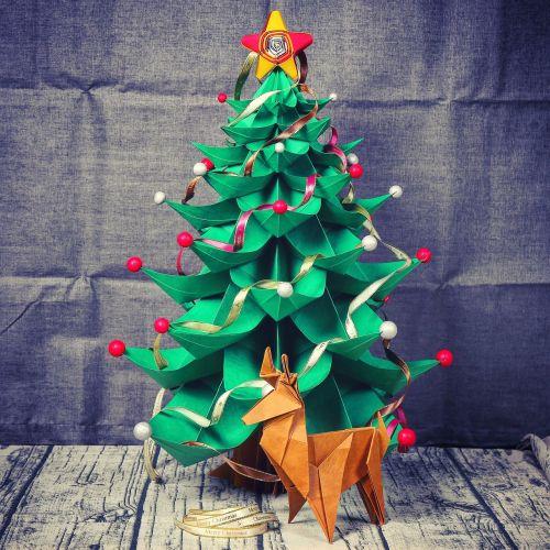 Kalėdos,Kalėdų eglutė,popierius 藝,popieriaus lankstymas