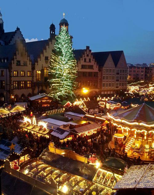 Kalėdos, Turgus, Medis, Frankfurtas Yra Pagrindinė Vokietija, Vokietija
