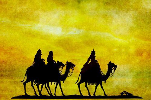 trys & nbsp, išmintingi & nbsp, vyrai, Kalėdos, siluetas, saulėlydis, saulėtekis, kupranugaris, kupranugariai, vyrai, Jodinėjimas, menas, vintage, dažymas, iliustracija, senas, Grunge, susikrimtęs, Scrapbooking, Laisvas, viešasis & nbsp, domenas, Kalėdų eglutė protingi vyrai saulėlydis