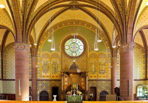 bažnyčia,altorius,krikščionis,religija,krikščionybė,architektūra,vitražas,ramstis,menas,paauksuotas,pastatas,tikėjimas,Vokietija,šviesa,langas,skydas,bažnyčios kambarys,stuetztpfeiler,istoriškai,arkos,protestantas,maistas yra