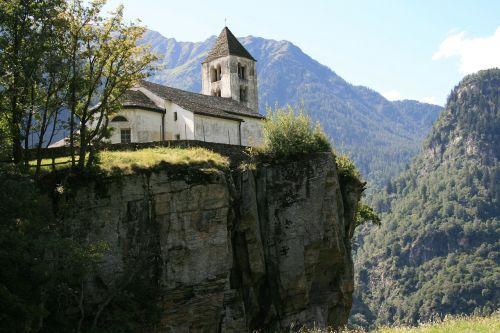 Bažnyčia, Bedugnė, Ticino, Bergdorf, Šveicarija