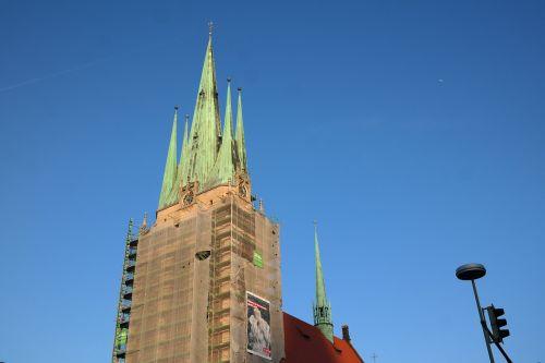 bažnyčia,St George,Šv. Džordžo bažnyčia,ulm,pastatas,architektūra,bokštas,spiers,katalikų,katalikų garnizonų bažnyčia,garnizonų bažnyčia,max meckel,parapijos bažnyčia,katalikų parapija,varis,stogas,žalias,krikščionis,tikėjimas