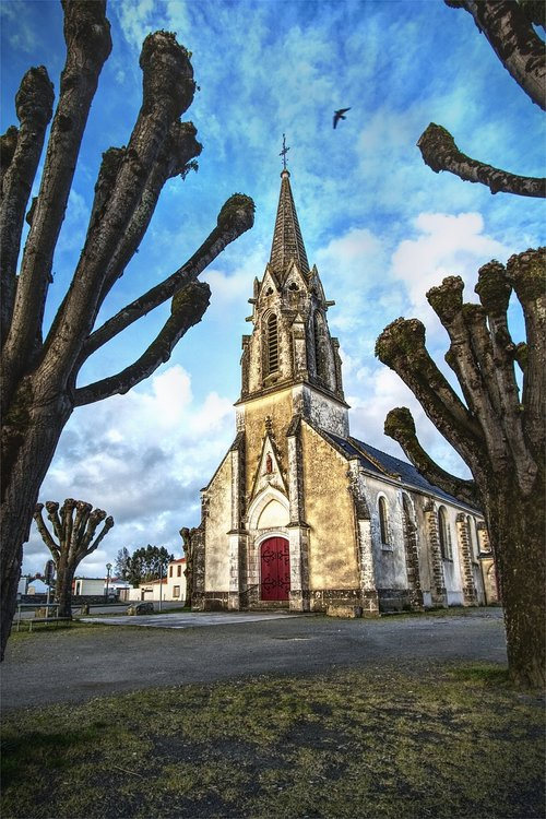 bažnyčia, Prancūzija, senovės paminklas, Religija, koplyčia, Katalikų, religinis, religinis paminklas, dangus, spalvinga, varpinė, negerai, šventa, religinis pastatas, paminklas, akmenys, abatija