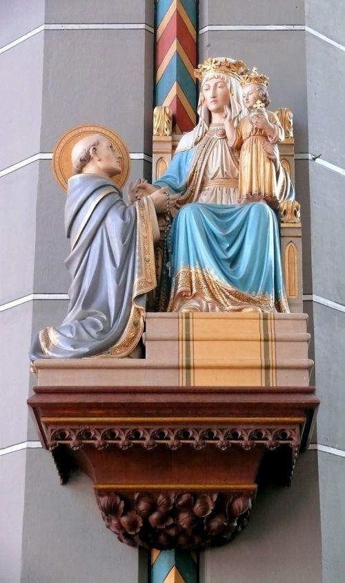 bažnyčia,vaizdas,Marija su kūdikiu