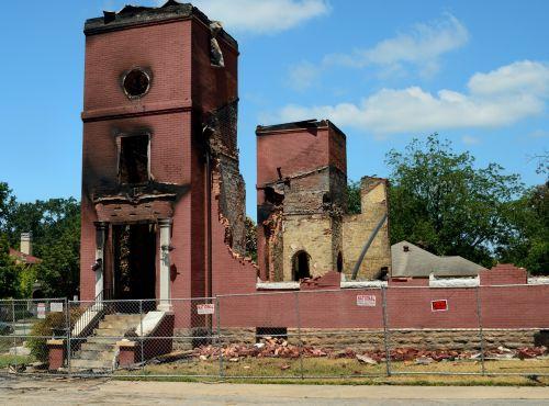 bažnyčia, pažeista, religija, sunaikinimas, katastrofiškas, pastatas, sudegintas & nbsp, sunaikinta, liūdesys, draudimas, pretenzija, bažnyčia sunaikinta