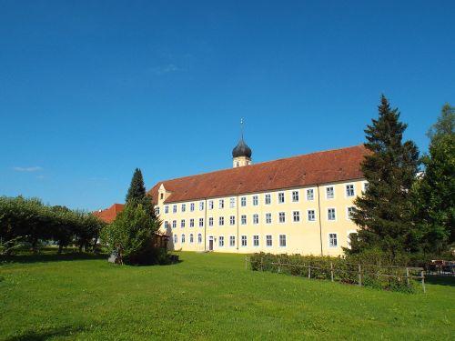 cistercianų abatija,oberschönenfeld,vienuolyno pastatas,swabia