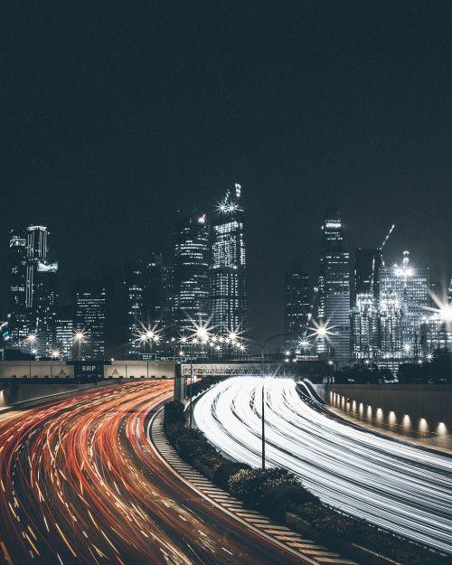 Eismas, Naktis, Miestas, Automobiliai, Žibintai, Miesto Miestas, Blur, Miestas Naktį, Neryškus Žiburiai