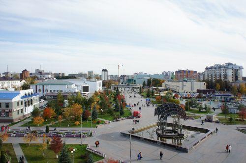 miestas,Tyumen,Siberija,boulevard