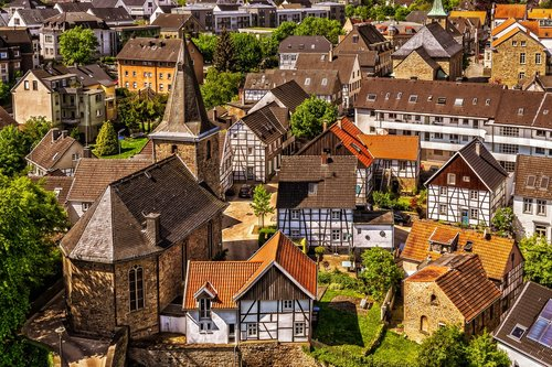 Miestas, namai, mažas miestelis, architektūra, istorinis centras, statyba, Nekilnojamasis turtas, bažnyčia, fachwerkhäuser, gyvena, fasadas, istoriškai, istorinis senamiestis, istorinis pastatas, Downtown, metai, Vokietija, Hattingen, Blankenheim