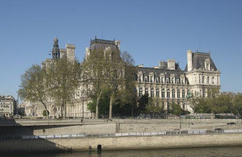 miesto rotušė,Paryžius,Prancūzija,Prancūzijos sala,miesto rotušė,administravimo,žymus objektas,architektūra,Vyriausybė,ive arrondissement,dangus,fasadas,Vintage,miesto rotušė