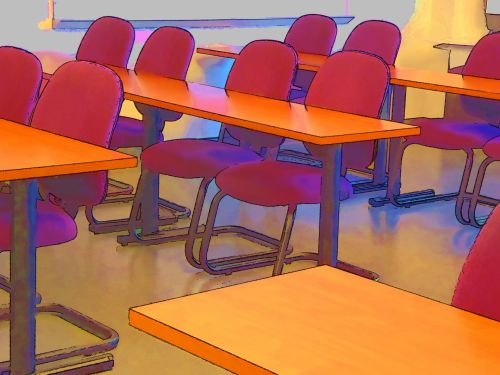 mokykla, klasė, klasė, klases, kėdės, stalai, mokymasis, švietimas, kolegija, mokytis, studijuoti, meno, dažytos, tapybos, Laisvas, viešasis & nbsp, domenas, klasė