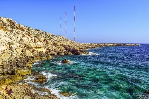 uolos,uolos pakrantė,pakrantė,erozija,geologija,gamta,antenos,cavo greko,Nacionalinis parkas,Kipras