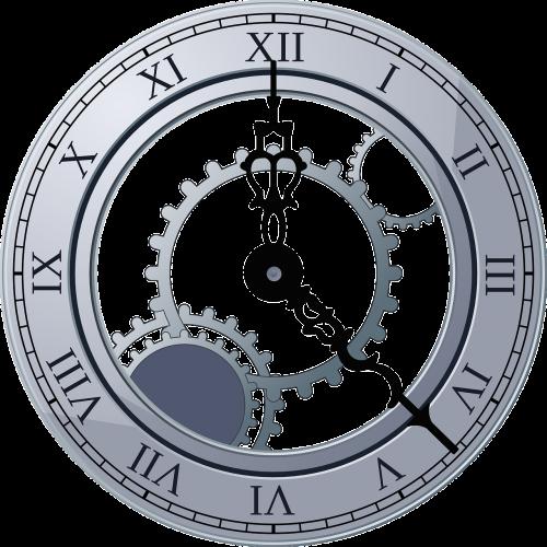 laikrodis,veidas,numeriai,romėniški skaitmenys,žiūrėti,sidabras,laikas,senovės,laikrodžio mechanizmo mechanizmas,vilkikai,mechaninis,nemokama vektorinė grafika