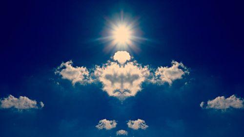 debesis,saulė,dangus,Rorschach,figūra,fantazija,vaizduotė