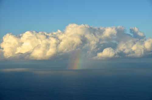 debesis,vaivorykštė,jūra,cumulus,nuotaika,dangus,gamta,oras,vanduo,farbenspiel