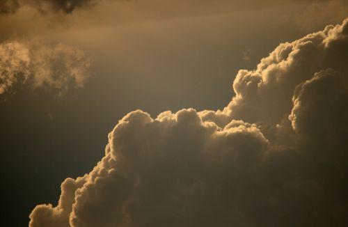 debesis, cumulus, apvadu, šviesa, žėrintis, debesys maudosi šviesoje
