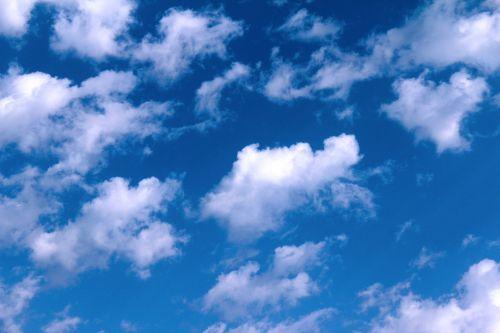mėlynas, dangus, debesys, dienos metu, gamta, grožis, Debesis Debesis visur Debesis ...