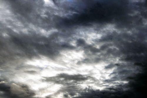 dangus, debesys, tamsi, grasinanti, debesies scena