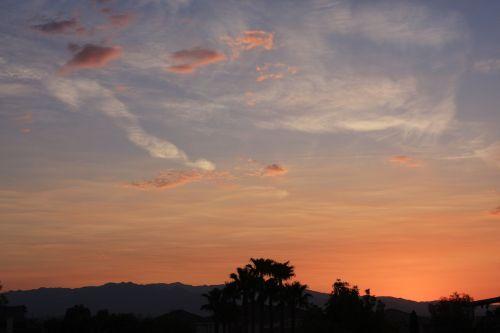 saulėlydis,švelnus,debesys,dangus,Las Vegasas