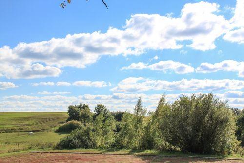 debesys,kraštovaizdis,ruduo,dangus,aukso ruduo,uckermark,gamta,nuotaika