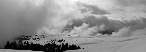 debesys,panorama,žiema,sniegas,kraštovaizdis,gamta,sniego kraštovaizdis