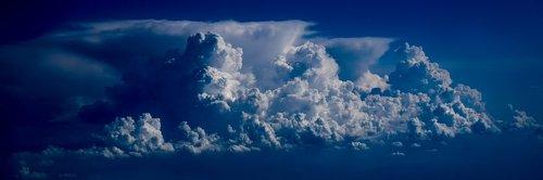 debesys, dangus, dramatiškas, oro, atmosfera, Cumulus, Orų, audra, lėktuvas vaizdas