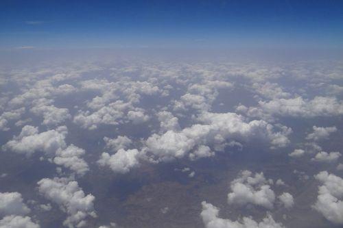 debesys,sluoksniukai,oro vaizdas,Indija