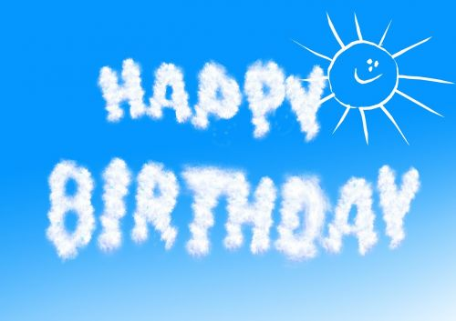 debesys,gimtadienis,dangus,saulė,pasveikinimas,sėkmė,sąskaitą,saulės šviesa,romantiškas,su gimtadieniu,atvirukas,mėlynas,balta,meilė,meilė,žodis debesis,jausmai