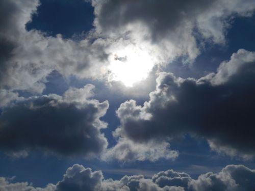 debesys,dangus,saulė,Debesuota,debesuotumas