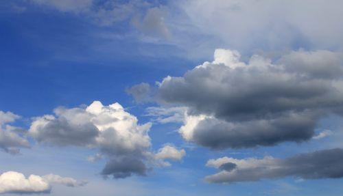 debesys, dangus, mėlynas, debesys formos, balta, kubo debesys, tamsūs debesys, oras, nuotaika, cumulus, grazus