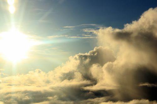 debesys & nbsp, aukščiau & nbsp, dangus, debesys, aukščiau & nbsp, dangus, Debesuota, gamta, dangus, debesuota & nbsp, dangaus, rytas saulė, saulė, saulės šviesa, debesys virš dangaus Nr.2