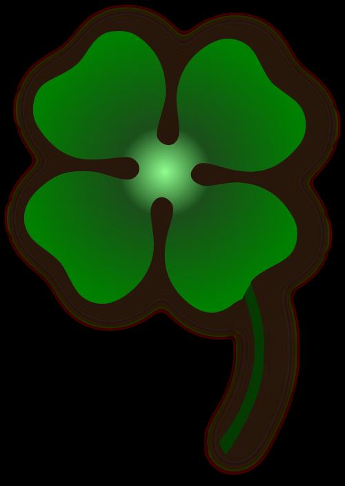 dobilas,gėlė,sėkmė,keturi le,keturių lapų dobilų,laimingas,nemokama vektorinė grafika