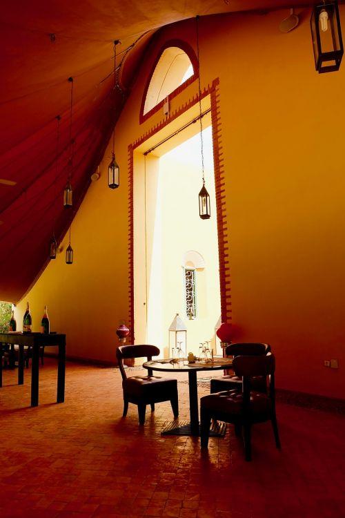 klubo medas,marrakechas,Marokas,med klubas,kava,interjeras,viešbutis