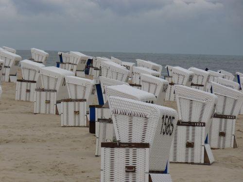 klubai, sylt, paplūdimys, jūra, papludimys, smėlio paplūdimys Westerland, smėlis, Šiaurės jūra, dangus, mėlynas