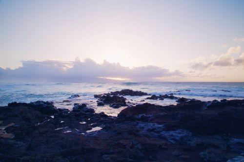 kranto, bjaurus, jūros dugnas, Krantas, jūra, vandenynas, vanduo, gamta, uolingas, pajūris, grubus, pajūris, akmenys, vaizdingas, bangos, saulėlydis, vakare