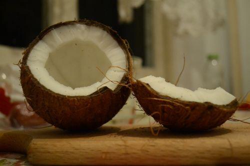 kokoso, riešutas, egzotiškas