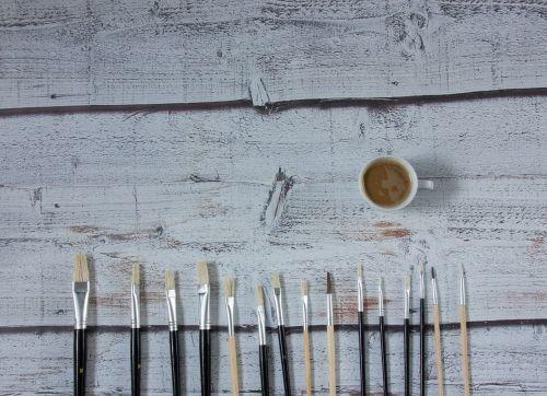 kava,šepečiai,menas,dažymas,šepetys