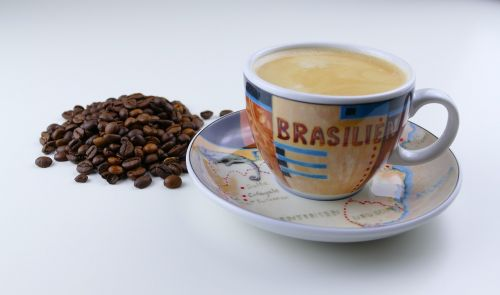 kava,taurė,pupos,kavos pupelės,kavos puodelis,Crema