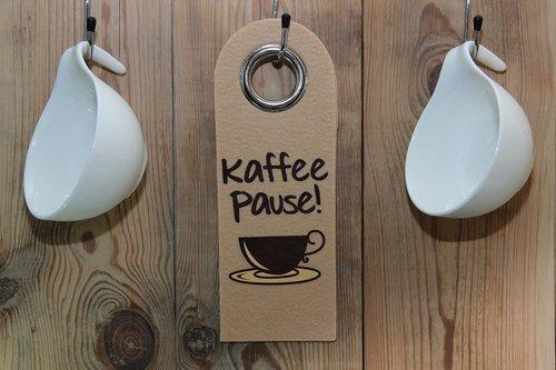kavos pakaitalai, kavos pertraukėlė, skydas, medinių sienų, kablys, T, kofeino, pertrauka, kavos puodelis