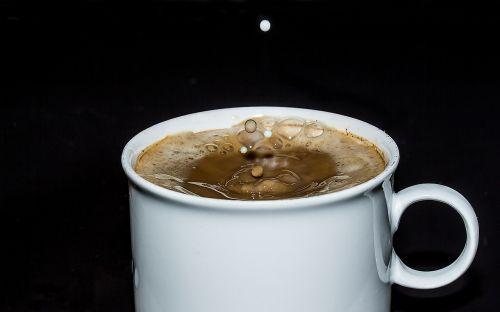 kavos puodelis,taurė,kava,kavinė,putos,kavos putos,lašai pieno,purkšti,lašelinė,judėjimas,kavos pieno mišinys,bet lašinamas,naudos iš,gerti,saldus,kvapas,skonis,žaliavinis,ruda,kofeinas,maistas,stimuliatorius,karštas