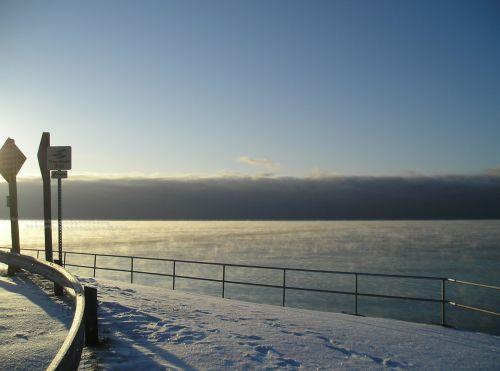 fonas, kraštovaizdis, kitas, sniegas, žiema, šaltas, šaltas žiemos rytas