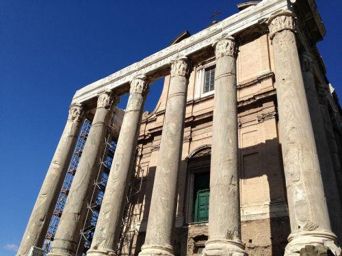 kolonada,kasinėjimai,Roma,architektūra,senovės