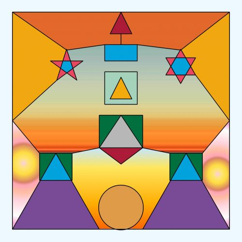 geometrinis, modelis, skaičiai, spalva, linijos, trikampiai, aikštės, stačiakampiai, fonas, fonas, spalvų skaičiai