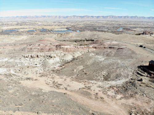 Colorado, vakarų & nbsp, spalvotas, dykuma, upės, vanduo, colorado & nbsp, upė, drones, antena, peizažai, Colorado upių žvyriai